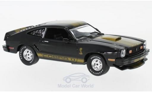 Ford Mustang 1/43 Greenlight II Cobra II noire/gold 1977 miniature