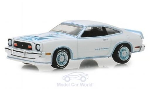 Ford Mustang 1/64 Greenlight II King Cobra blanche/bleue 1978 miniature