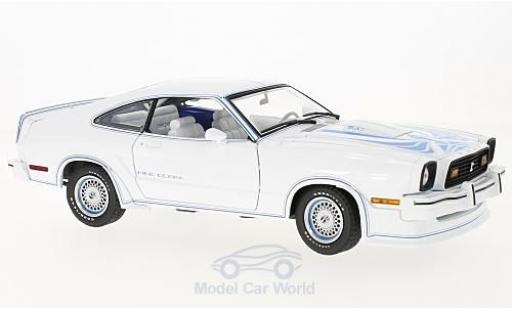 Ford Mustang 1/18 Greenlight II blanche/bleue Film King Cobra 1978 miniature