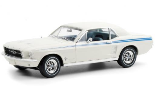 Ford Mustang 1/18 Greenlight Indy Pacesetter Special white/blue 1967 diecast model cars