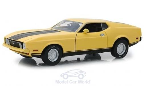 Ford Mustang 1/18 Greenlight Mach1 Eleanor jaune/noire Gone in 60 Seconds 1973 miniature