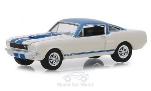 Ford Mustang GT 1/64 Greenlight Shelby 350 Prototype weiss/blau 1966 modellautos