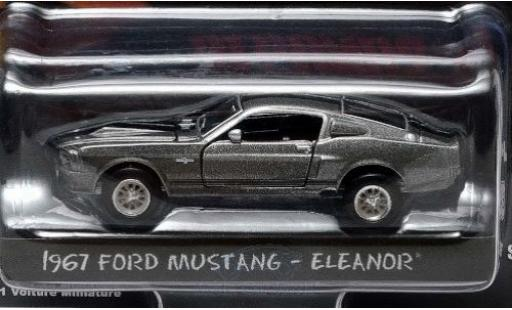 Ford Mustang 1/64 Greenlight Shelby GT500 grise/noire Gone in 60 Seconds 1967 Eleanor miniature