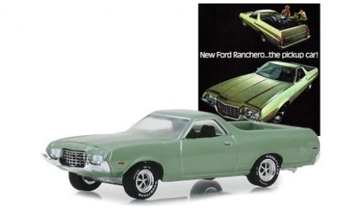 Ford Ranchero 1/64 Greenlight métallisé verte 1972 miniature