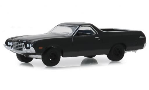 Ford Ranchero 1/64 Greenlight noire 1972 miniature