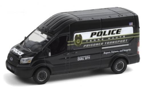 Ford Transit 1/64 Greenlight LWB HD Terre Haute Police Department 2020 Prisoner Transport miniature