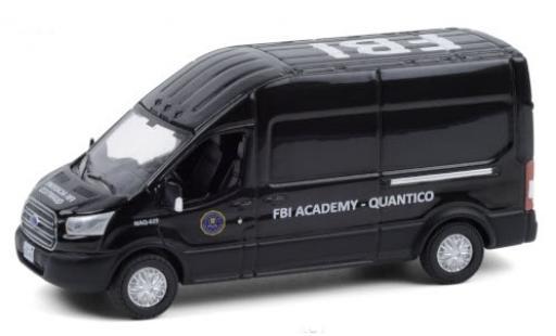 Ford Transit 1/64 Greenlight LWB High Roof FBI Academy - Quantico 2015 diecast model cars