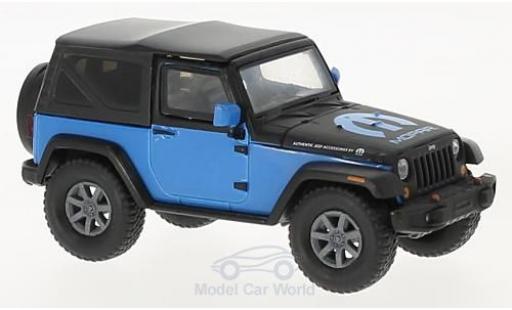 Jeep Wrangler 1/43 Greenlight bleue/noire MOPAR 2010 miniature