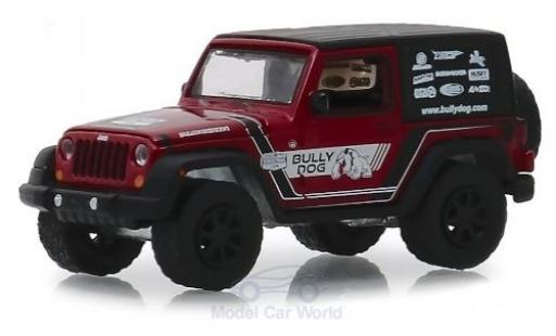 Jeep Wrangler 1/64 Greenlight rouge/Dekor Bully Dog 2012 miniature