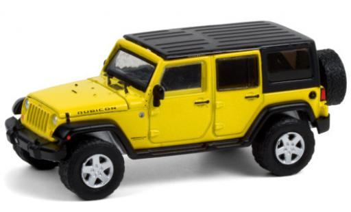 Jeep Wrangler 1/64 Greenlight Rubicon yellow 2008 Verdeck abnehmbar diecast model cars