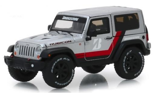 Jeep Wrangler 1/43 Greenlight Rubicon grise/Dekor Bridgestone 2014 miniature