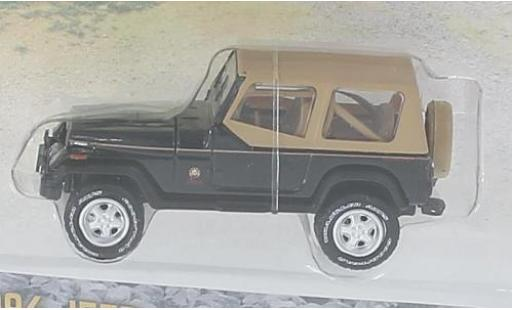 Jeep Wrangler 1/64 Greenlight Sahara noire/marron 1994 miniature