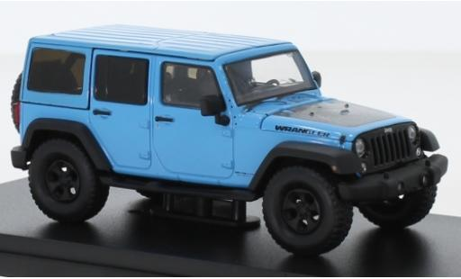 Jeep Wrangler 1/43 Greenlight Unlimited Big Bear bleue/Dekor 2017 miniature