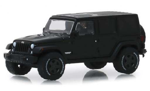 Jeep Wrangler 1/64 Greenlight Unlimited matt-noire 2017 miniature