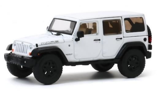 Jeep Wrangler 1/43 Greenlight Unlimited MOAB blanche 2013 miniature
