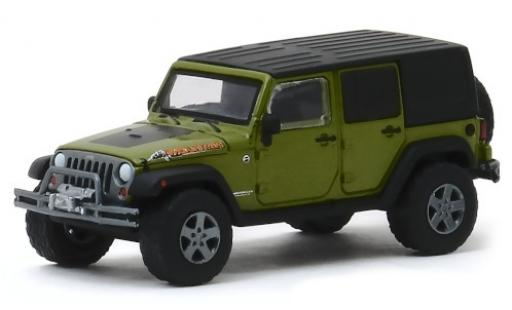 Jeep Wrangler 1/64 Greenlight Unlimited Mountain Edition metallise verte/matt-noire 2010 miniature