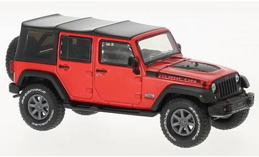 Jeep Wrangler 1/43 Greenlight Unlimited rouge/noire Rubicon Recon 2017 miniature