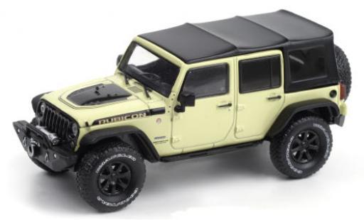 Jeep Wrangler 1/43 Greenlight Unlimited Rubicon Recon beige/Dekor 2018 Dach abnehmbar diecast model cars