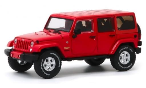 Jeep Wrangler 1/43 Greenlight Unlimited Sahara rouge 2017 miniature