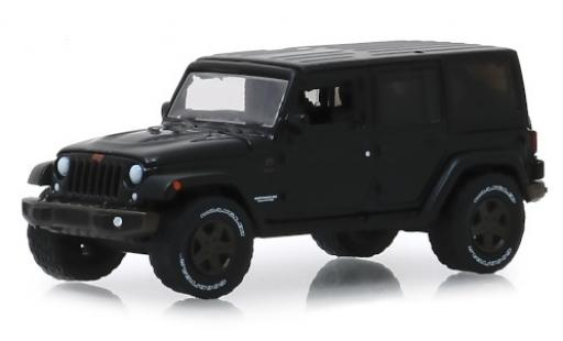 Jeep Wrangler 1/64 Greenlight Unlimited noire 2016 miniature