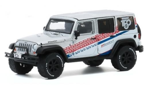 Jeep Wrangler 1/64 Greenlight Unlimited silber/Dekor 2015 150 Years BFGoodrich modellautos