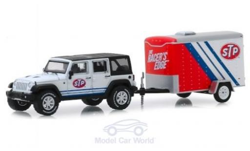 Jeep Wrangler 1/64 Greenlight Unlimited STP 2015 mit Transportanhänger miniature