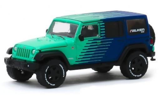 Jeep Wrangler 1/64 Greenlight Unlimited turquoise/bleue Falken Tires 2017 miniature