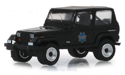 Jeep Wrangler 1/64 Greenlight YJ S.F.P.D. - San Francisco Police Department 1994 miniatura