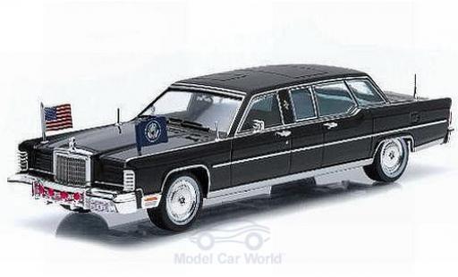 Lincoln Continental 1/43 Greenlight noire Ronald Reagan 1972 miniature