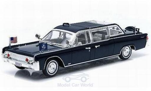 Lincoln Continental 1/43 Greenlight SS-100-X métallisé bleue John F. Kennedy 1961 miniature