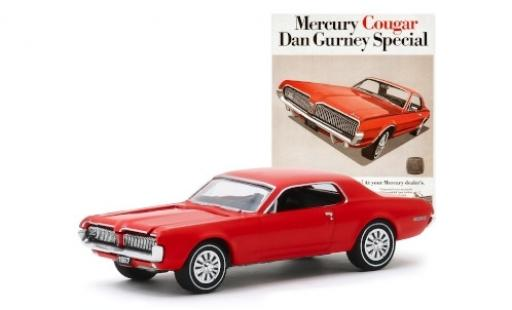 Mercury Cougar 1/64 Greenlight Dan Gurney Special rouge 1967 miniature