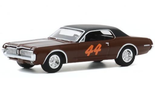 Mercury Cougar 1/64 Greenlight matt-brown/matt-black 1967 No.44 diecast model cars