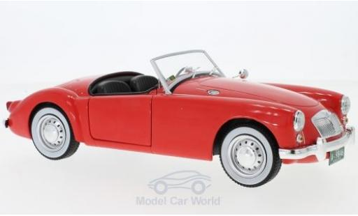 MG A 1/18 Greenlight 1600 Roadster MKI rouge Elvis Presley Film Blue Hawaii 1959 miniature