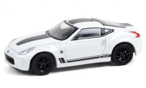 Nissan 370Z 1/64 Greenlight Heritage Edition metallise blanche/Dekor 2019 miniature