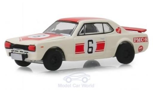 Nissan Skyline 1/64 Greenlight 2000 GT-R blanco 1971 miniatura
