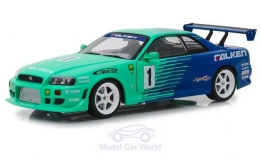 Nissan Skyline 1/18 Greenlight GT-R (BNR34) RHD Falken Tires 1999 diecast model cars