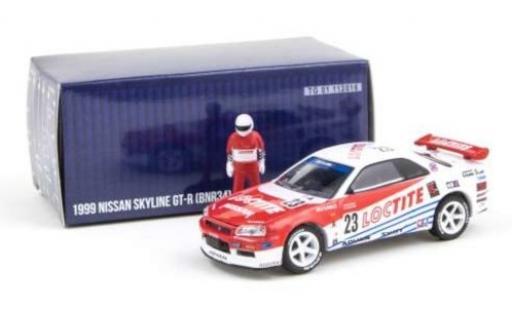 Nissan Skyline 1/64 Greenlight GT-R (BNR34) RHD No.23 Loctite 1999 avec figurine diecast model cars