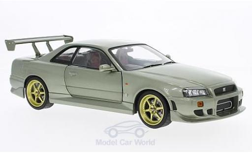 Nissan Skyline 1/18 Greenlight GT-R34 metallic-hellgrün RHD 1999 miniature