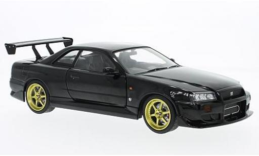 Nissan Skyline 1/18 Greenlight GT-R34 black RHD 1999 diecast model cars