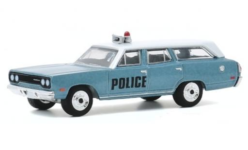 Plymouth Belvedere 1/64 Greenlight Emergency Wagon Police 1970 miniature