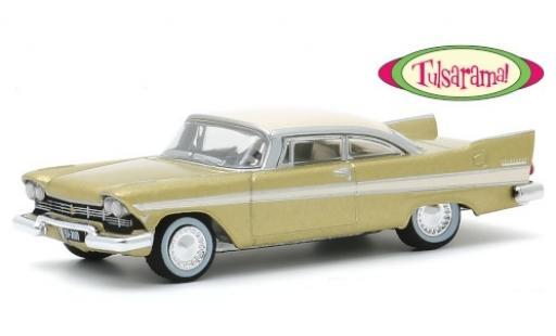 Plymouth Belvedere 1/64 Greenlight metallise beige/beige 1957 Tulsarama miniature