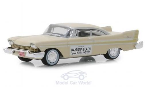 Plymouth Fury 1/64 Greenlight beige Daytona Beach Speed Weeks 1957 miniature