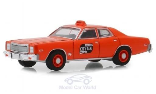 Plymouth Fury 1/64 Greenlight Binghamton New York City Taxi 1977 modellino in miniatura