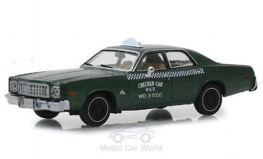 Plymouth Fury 1/43 Greenlight Checker Cab 1976 Beverly Hills Cop miniature