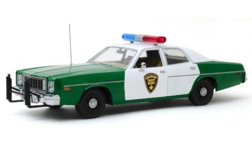 Plymouth Fury 1/18 Greenlight Chickasaw County Sheriff 1977 modellautos