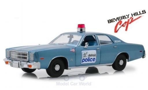Plymouth Fury 1/18 Greenlight Detroit Police Department 1977 Beverly Hills Cop miniatura