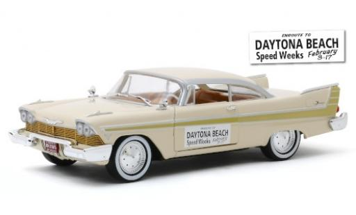 Plymouth Fury 1/24 Greenlight beige/gold Daytona Beach Speed Weeks 1957 miniature