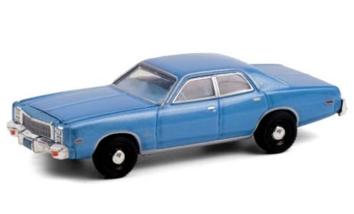 Plymouth Fury 1/64 Greenlight metallise blue 1977 Christine (1983) diecast model cars