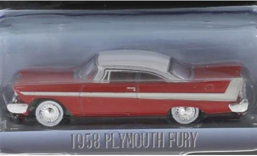 Plymouth Fury 1/64 Greenlight rouge/blanche Christine 1958 miniature