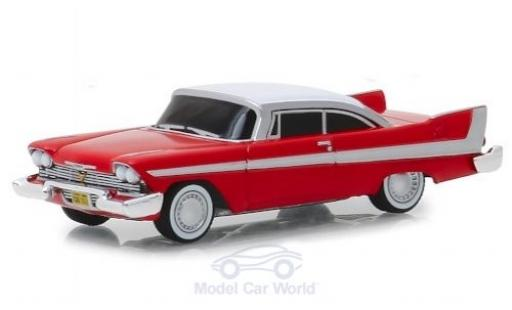 Plymouth Fury 1/64 Greenlight rouge/blanche Christine 1958 Evil Version miniature